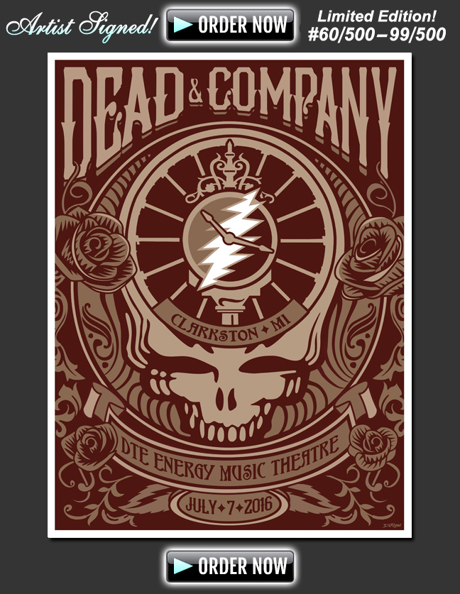 Dead & Company SIGNED by Artist and Numbered from Artist's private collection!